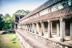 Αρχαίος ναός Angkor Wat στοκ εικόνα με δικαίωμα ελεύθερης χρήσης