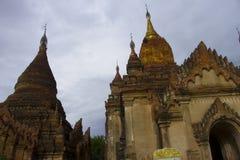 Αρχαίος ναός Bagan στο σούρουπο, το Μιανμάρ Βιρμανία στοκ εικόνα