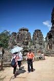 Αρχαίος ναός Bayon σε Angkor Wat, Καμπότζη Στοκ φωτογραφίες με δικαίωμα ελεύθερης χρήσης
