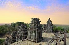 Αρχαίος ναός Phnom Bakheng σε Angkor Wat Στοκ Φωτογραφία