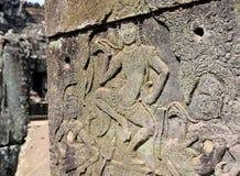 Αρχαίος ναός TA Prohm Angkor Wat Καμπότζη Στοκ εικόνες με δικαίωμα ελεύθερης χρήσης