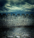 αρχαίος παλαιός τοίχος Στοκ Εικόνες