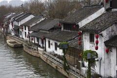 Αρχαίος ποταμός γεφυρών Qingming φυσικός, Wuxi, Κίνα Στοκ Φωτογραφία