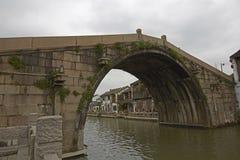 Αρχαίος ποταμός γεφυρών Qingming φυσικός, Wuxi, Κίνα Στοκ εικόνες με δικαίωμα ελεύθερης χρήσης