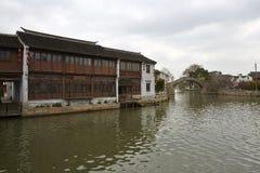 Αρχαίος ποταμός γεφυρών Qingming φυσικός, Wuxi, Κίνα Στοκ φωτογραφίες με δικαίωμα ελεύθερης χρήσης