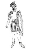 Αρχαίος πρετοριανός πολεμιστής της Ρώμης Στοκ φωτογραφία με δικαίωμα ελεύθερης χρήσης
