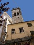 Αρχαίος πύργος εκκλησιών στην πόλη της Κέρκυρας στο ελληνικό νησί της Κέρκυρας Στοκ Φωτογραφίες