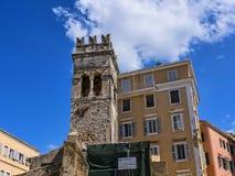 Αρχαίος πύργος εκκλησιών στην πόλη της Κέρκυρας στο νησί της Κέρκυρας Στοκ φωτογραφία με δικαίωμα ελεύθερης χρήσης
