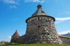 Αρχαίος πύργος μοναστηριών Στοκ Φωτογραφία