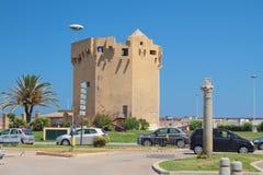 αρχαίος πύργος Πόρτο-Torres, Ιταλία Στοκ Εικόνες
