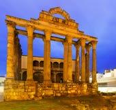 Αρχαίος ρωμαϊκός ναός της Diana στο Μέριντα Στοκ φωτογραφία με δικαίωμα ελεύθερης χρήσης