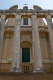 Αρχαίος ρωμαϊκός ναός Antoninus και Faustina στη Ρώμη Ιταλία Στοκ φωτογραφία με δικαίωμα ελεύθερης χρήσης