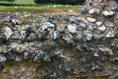 Αρχαίος ρωμαϊκός τοίχος πετρών Στοκ Εικόνες
