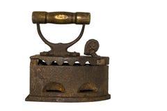 Αρχαίος σίδηρος σε ένα άσπρο υπόβαθρο Στοκ φωτογραφίες με δικαίωμα ελεύθερης χρήσης