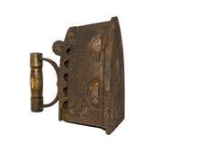 Αρχαίος σίδηρος σε ένα άσπρο υπόβαθρο Στοκ φωτογραφία με δικαίωμα ελεύθερης χρήσης