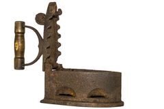 Αρχαίος σίδηρος σε ένα άσπρο υπόβαθρο Στοκ Εικόνες