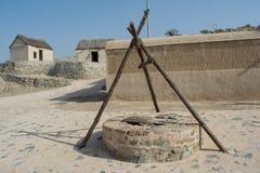 Αρχαίος σύρω-καλά στο αραβικό χωριό Στοκ Εικόνες