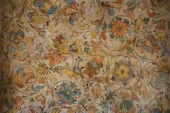 αρχαίος τοίχος έργων ζωγραφικής Στοκ Φωτογραφία