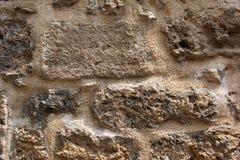 Αρχαίος τοίχος πετρών ενός αρχαίου φρουρίου Τεκτονική των παλαιών πετρών και των τούβλων ανασκόπηση ασυνήθιστη Στοκ Φωτογραφίες