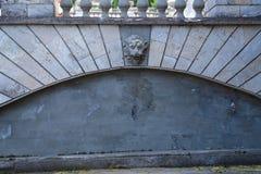 αρχαίος τοίχος πετρών Οριζόντιο freme Στοκ εικόνες με δικαίωμα ελεύθερης χρήσης