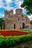 αρχαίος τοίχος pantocrator χριστιανικών εκκλησιών της Βουλγαρίας Χριστός Στοκ φωτογραφία με δικαίωμα ελεύθερης χρήσης