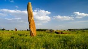 Αρχαίος τομέας stela μεγαλιθικών μνημείων, Axum, Tigray, Αιθιοπία Στοκ Φωτογραφία