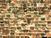 αρχαίος τουβλότοιχος Στοκ φωτογραφία με δικαίωμα ελεύθερης χρήσης