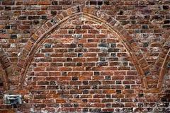 αρχαίος τουβλότοιχος Στοκ Φωτογραφίες
