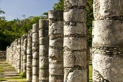 αρχαίος το itza Μεξικό στηλών Στοκ Φωτογραφίες