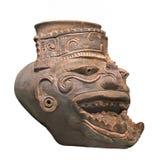 Αρχαίος των Μάγια αριθμός Θεών πυρκαγιάς που απομονώνεται Στοκ εικόνα με δικαίωμα ελεύθερης χρήσης