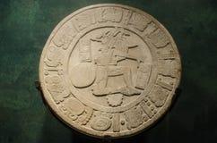Αρχαίος των Μάγια δίσκος πετρών φορέων ballgame Στοκ εικόνες με δικαίωμα ελεύθερης χρήσης