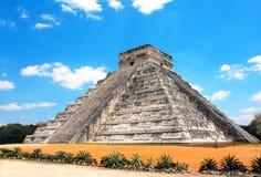 Αρχαίος των Μάγια ναός Kukulcan πυραμίδων, Chichen Itza, Yucatan, Στοκ Εικόνες