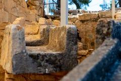 Αρχαίος υδροσωλήνας στην ιστορική ανασκαφή στοκ εικόνα με δικαίωμα ελεύθερης χρήσης