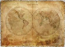 Αρχαίος χάρτης Στοκ εικόνες με δικαίωμα ελεύθερης χρήσης
