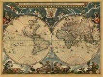αρχαίος χάρτης Στοκ Εικόνα