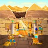 Αρχαίος χαμένος τάφος της Αιγύπτου pharaoh υπόγεια ελεύθερη απεικόνιση δικαιώματος