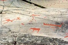 αρχαίος χαράζοντας βράχο&si Στοκ φωτογραφία με δικαίωμα ελεύθερης χρήσης