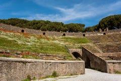 Αρχαίος χώρος του αμφιθεάτρου στην Πομπηία, Ιταλία Στοκ φωτογραφία με δικαίωμα ελεύθερης χρήσης