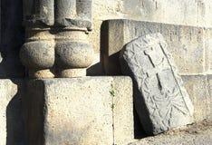 αρχαίος khachkar Στοκ Φωτογραφίες