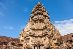 Αρχαίος Khmer ναός Wat Angkor σύνθετος στην Καμπότζη Στοκ Φωτογραφίες