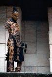 αρχαίος mayan πολεμιστής στοκ φωτογραφία