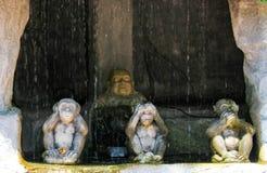 Αρχαίο άγαλμα του Βούδα σε Ayutthaya, Ταϊλάνδη στοκ εικόνες