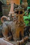 Αρχαίο άγαλμα ενός λιονταριού Στοκ Φωτογραφίες