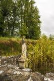 Αρχαίο άγαλμα στην περιοχή του Dion Archeological στην Ελλάδα Στοκ φωτογραφίες με δικαίωμα ελεύθερης χρήσης
