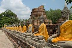 Αρχαίο άγαλμα του Βούδα σε Ayutthaya Στοκ Εικόνα