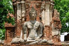 Αρχαίο άγαλμα του Βούδα σε Ayutthaya Στοκ Εικόνες