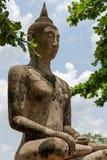 Αρχαίο άγαλμα του Βούδα σε Ayutthaya Στοκ φωτογραφία με δικαίωμα ελεύθερης χρήσης