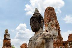Αρχαίο άγαλμα του Βούδα σε Ayutthaya Στοκ Φωτογραφία