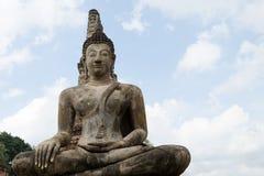 Αρχαίο άγαλμα του Βούδα σε Sukhothai Στοκ Εικόνα