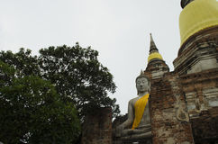 Αρχαίο άγαλμα του Βούδα Ayuttaya Στοκ Φωτογραφία